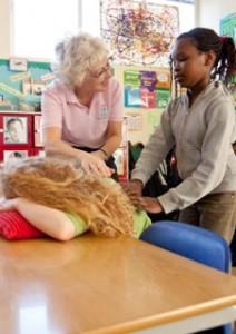 Peer Massage at Sheringdale School