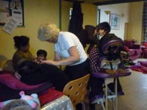 Peer massage workshops at WelCare